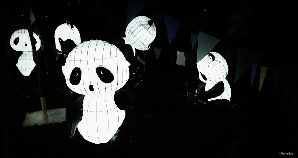 Panda's in a Nightclub