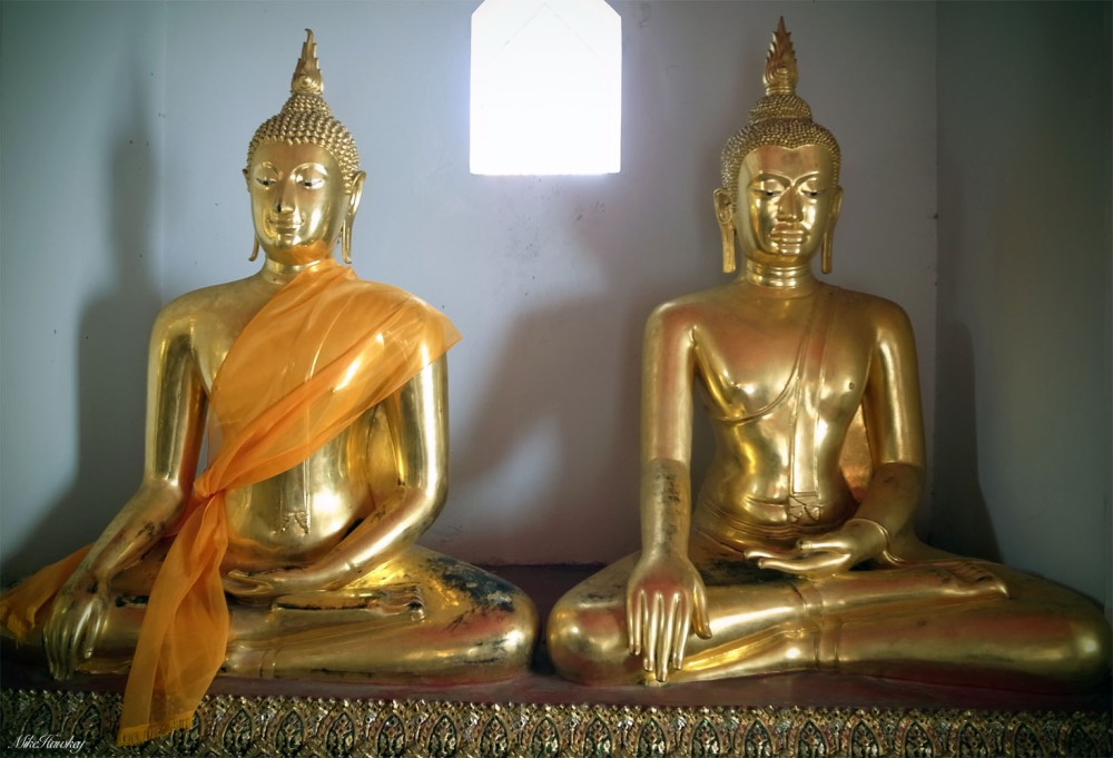 Budda before and during conflict