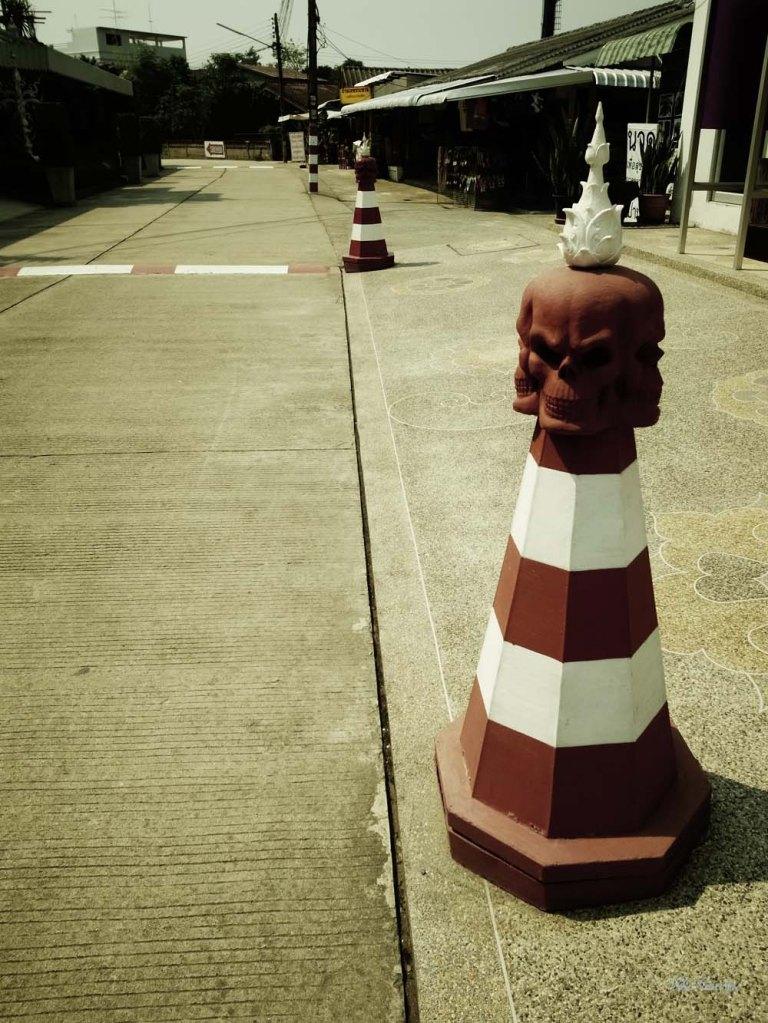 white temple cones